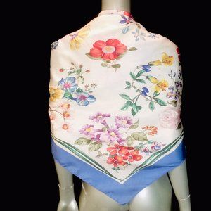 Gucci Vtg Silk Floral Square Large Scarf - AS IS